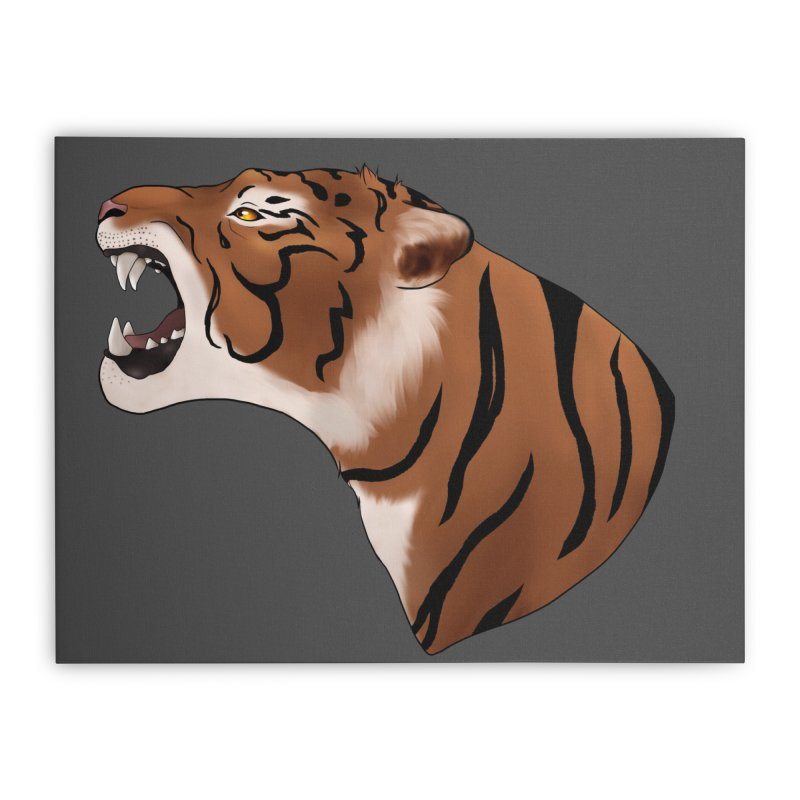 Tigers Roar Home Stretched Canvas by edubost's Artist Shop