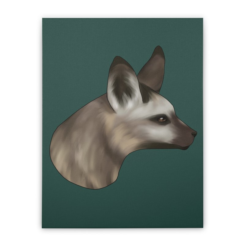 Fox Ears Hear All Home Stretched Canvas by edubost's Artist Shop