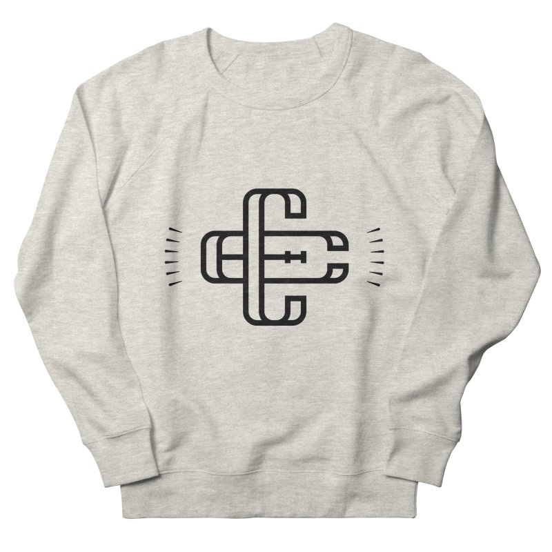 Monogram in Men's Sweatshirt Heather Oatmeal by educastellanos