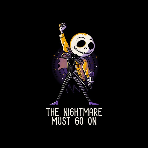 Design for The Nightmare Must Go On Funny Rock Music Skellington