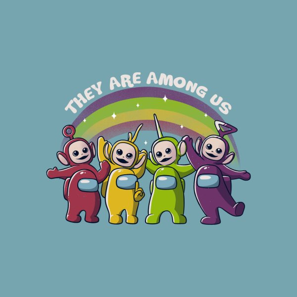 Design for They Are Among Us Funny Teletubbies Game Impostor