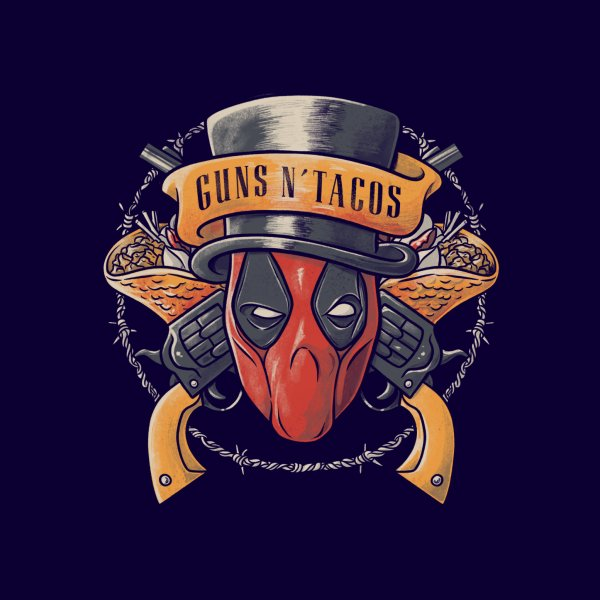 Design for Guns and Tacos Funny Rock Dead