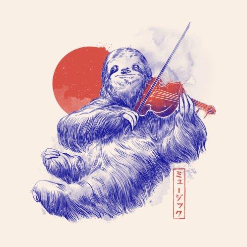Design for A Calm Song - Cute Musician Sloth Gift
