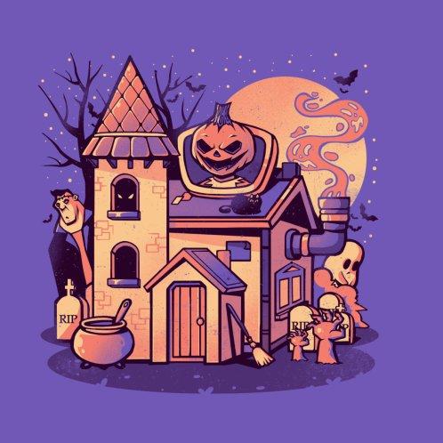 Design for Spooky House - Cute Pumpkin Ghost Halloween Gift