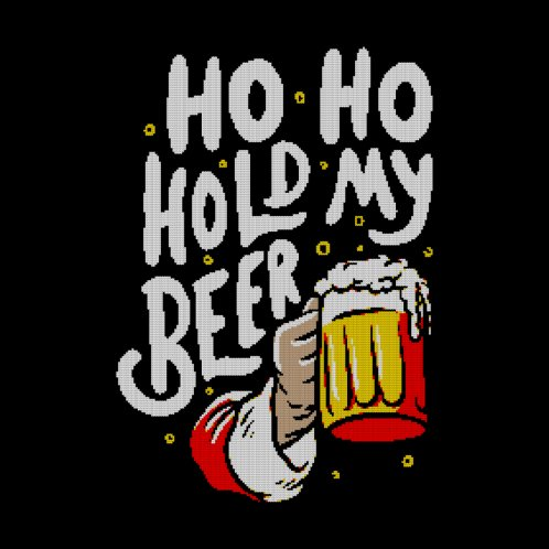 Design for Ho Ho Hold My Beer - Funny Santa Claus Ugly Sweater Christmas Gift