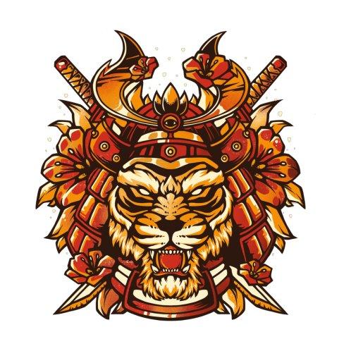 Design for Samurai Tiger - Animal Feline Warrior Gift