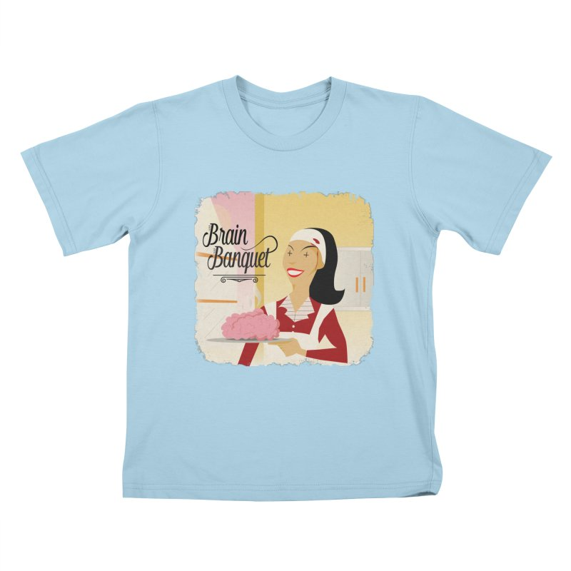 Dinner time! Kids T-Shirt by edulobo's Artist Shop