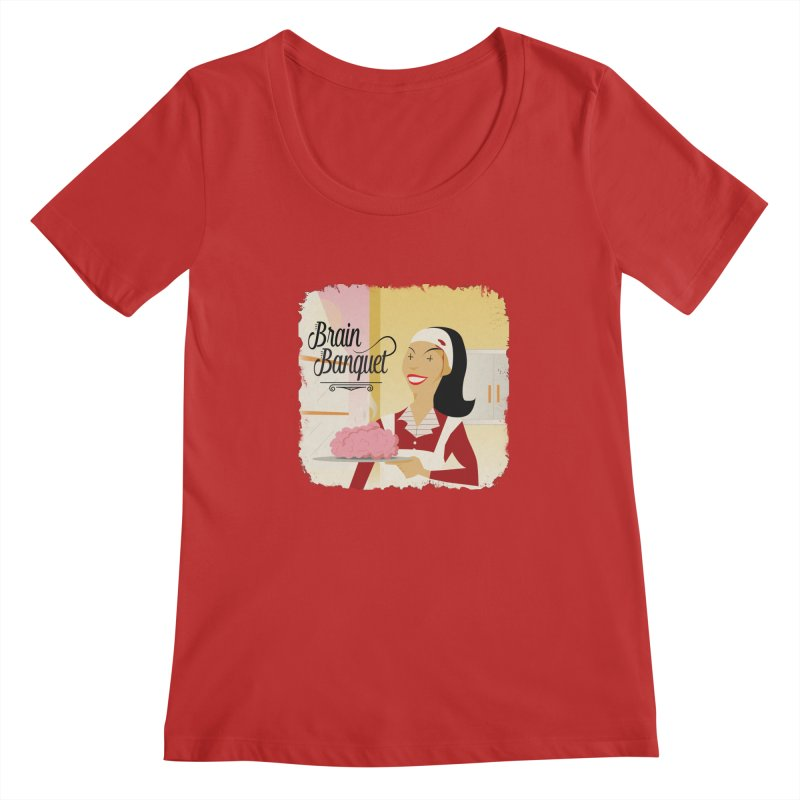 Dinner time! Women's Regular Scoop Neck by edulobo's Artist Shop
