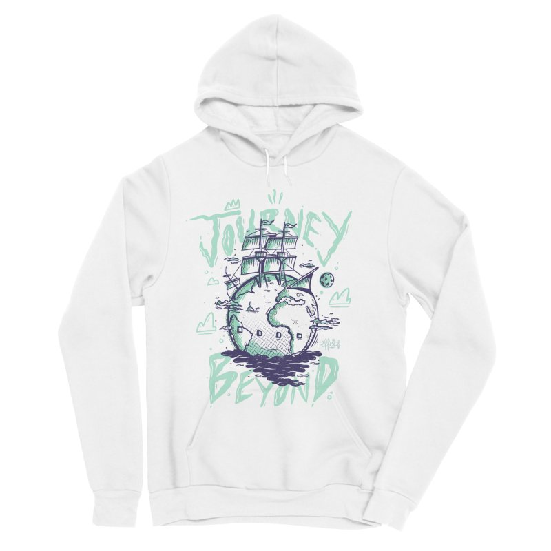 Journey Beyond Men's Sponge Fleece Pullover Hoody by effect14's Artist Shop