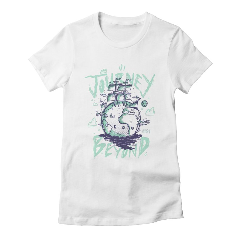 Journey Beyond Women's Fitted T-Shirt by effect14's Artist Shop