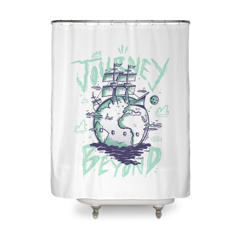 Journey Beyond Home Shower Curtain by effect14's Artist Shop