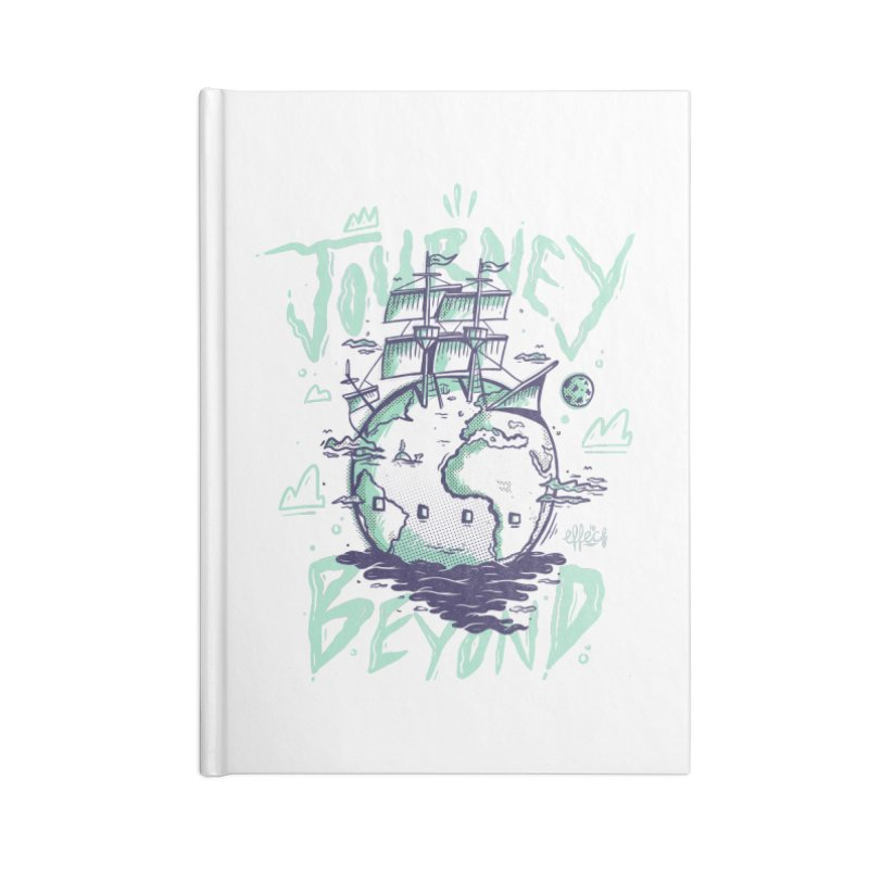 Journey Beyond Accessories Lined Journal Notebook by effect14's Artist Shop