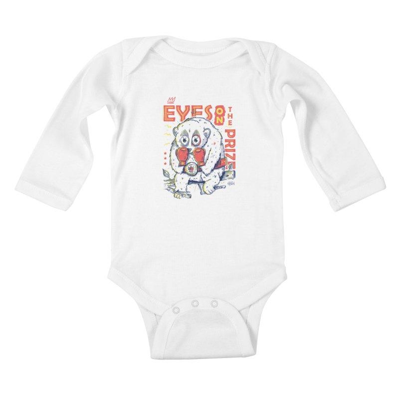 Eyes On The Prize Kids Baby Longsleeve Bodysuit by effect14's Artist Shop