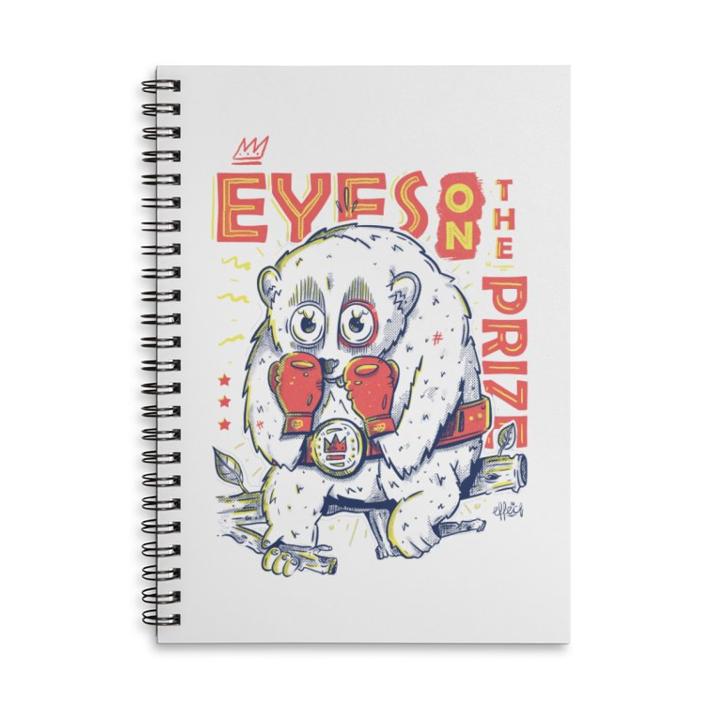 Eyes On The Prize Accessories Lined Spiral Notebook by effect14's Artist Shop