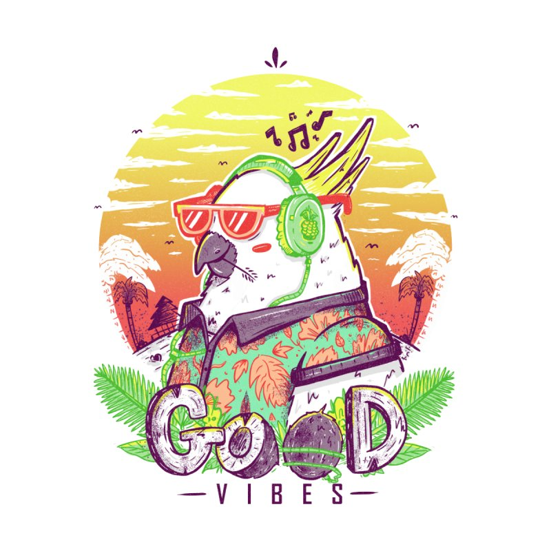 Polly Wants Some Good Vibes! Women's Longsleeve Scoopneck  by effect14's Artist Shop