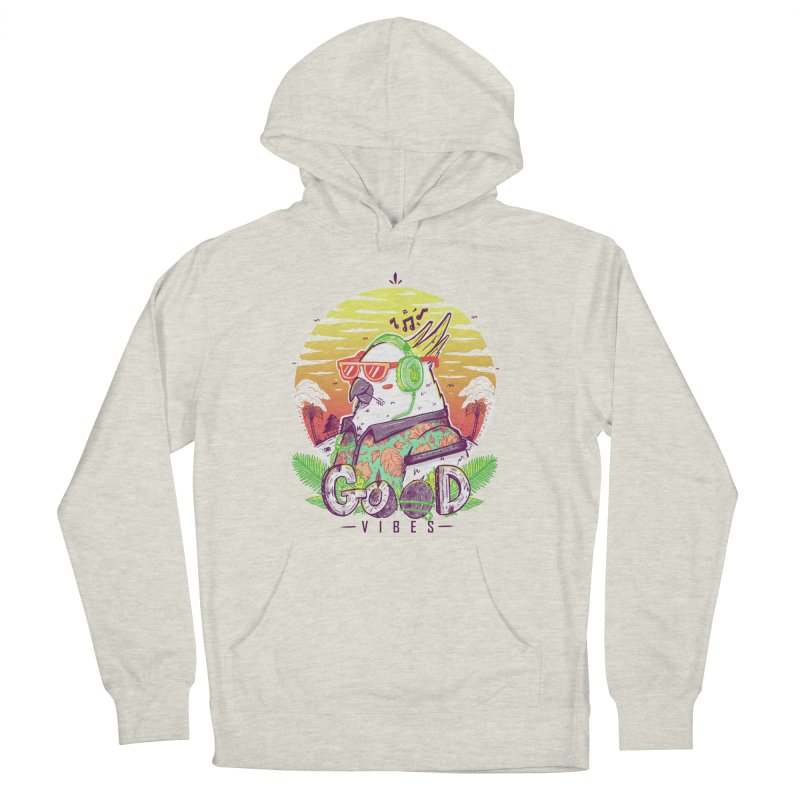 Polly Wants Some Good Vibes! Women's French Terry Pullover Hoody by effect14's Artist Shop