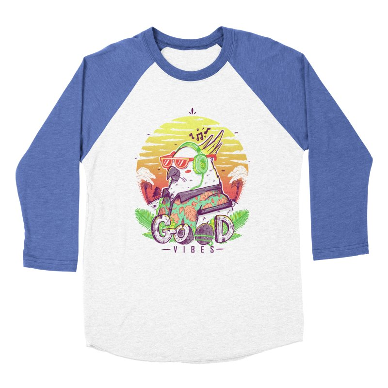 Polly Wants Some Good Vibes! Men's Baseball Triblend T-Shirt by effect14's Artist Shop