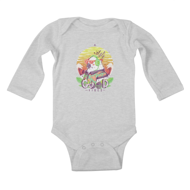 Polly Wants Some Good Vibes! Kids Baby Longsleeve Bodysuit by effect14's Artist Shop
