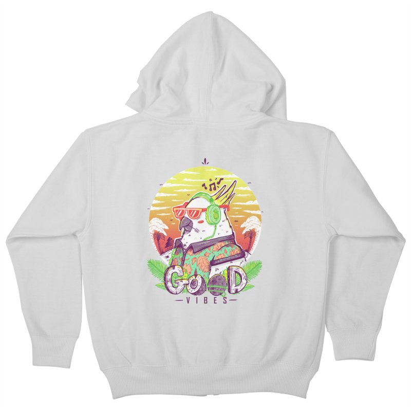 Polly Wants Some Good Vibes! Kids Zip-Up Hoody by effect14's Artist Shop