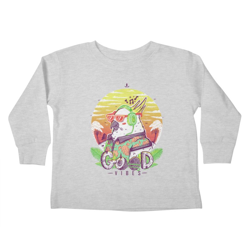 Polly Wants Some Good Vibes! Kids Toddler Longsleeve T-Shirt by effect14's Artist Shop
