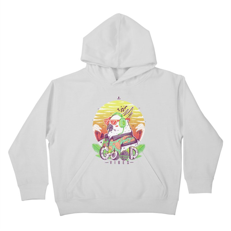 Polly Wants Some Good Vibes! Kids Pullover Hoody by effect14's Artist Shop