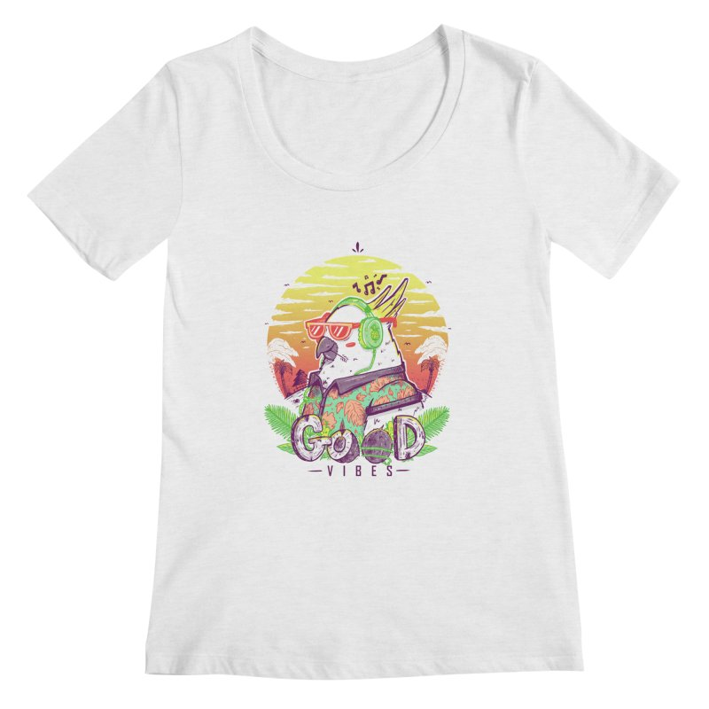Polly Wants Some Good Vibes! Women's Regular Scoop Neck by effect14's Artist Shop