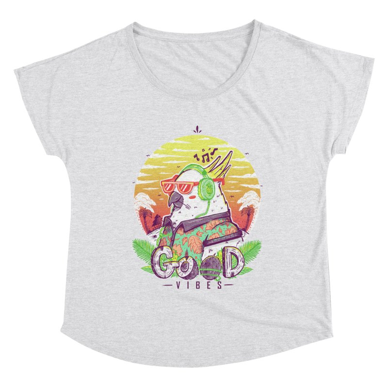 Polly Wants Some Good Vibes! Women's Dolman Scoop Neck by effect14's Artist Shop