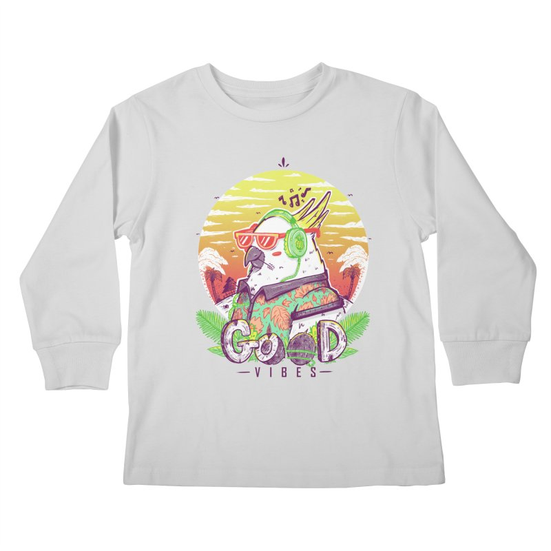Polly Wants Some Good Vibes! Kids Longsleeve T-Shirt by effect14's Artist Shop