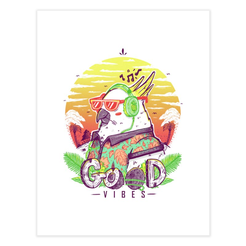 Polly Wants Some Good Vibes! Home Fine Art Print by effect14's Artist Shop