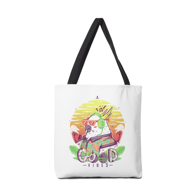 Polly Wants Some Good Vibes! Accessories Bag by effect14's Artist Shop