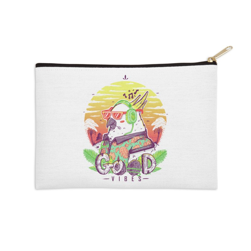 Polly Wants Some Good Vibes! Accessories Zip Pouch by effect14's Artist Shop