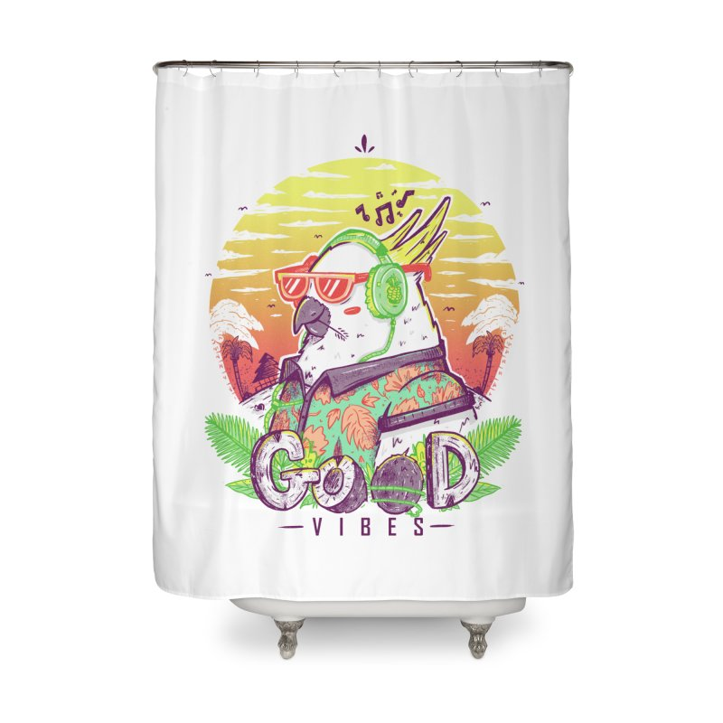 Polly Wants Some Good Vibes! Home Shower Curtain by effect14's Artist Shop