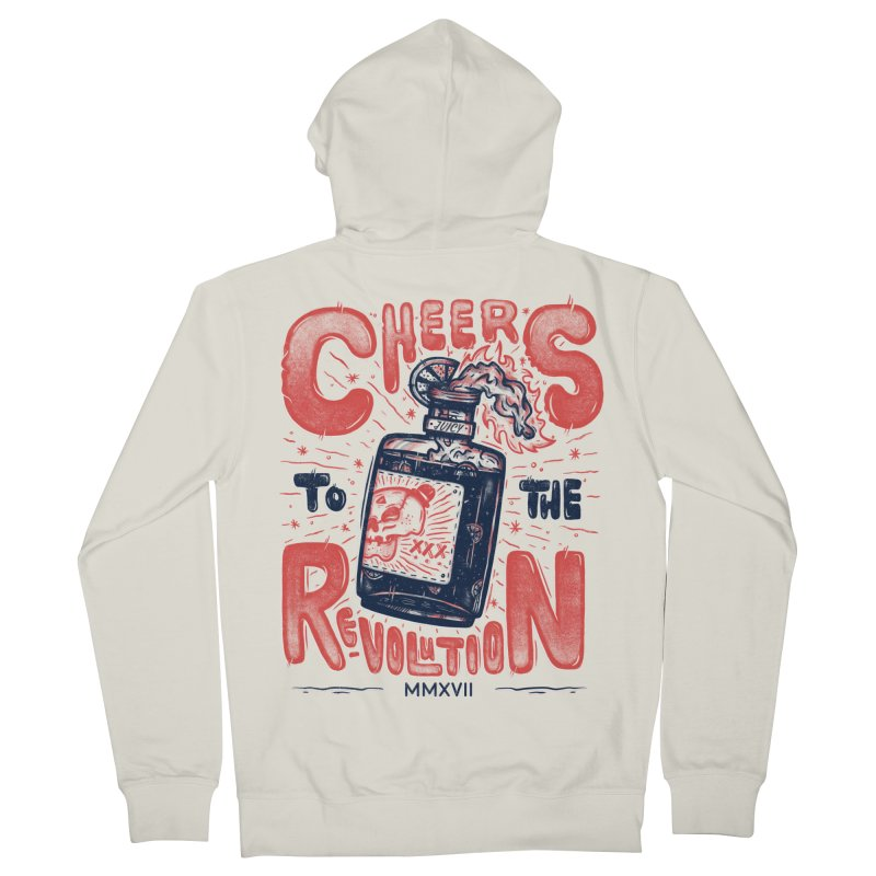 Cheers To The Revolution! Women's Zip-Up Hoody by effect14's Artist Shop