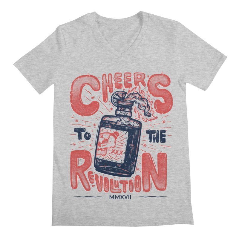Cheers To The Revolution! Men's V-Neck by effect14's Artist Shop