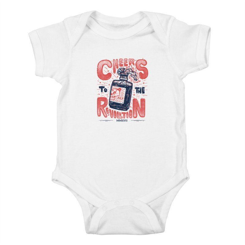 Cheers To The Revolution! Kids Baby Bodysuit by effect14's Artist Shop