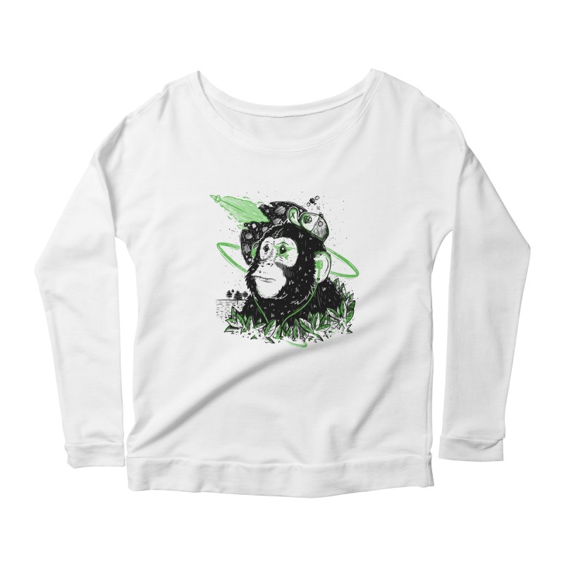 A Dream Away! Women's Longsleeve Scoopneck  by effect14's Artist Shop