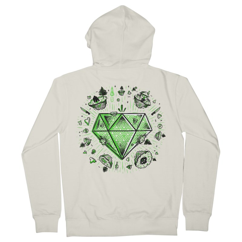 We Are Diamonds! Men's French Terry Zip-Up Hoody by effect14's Artist Shop