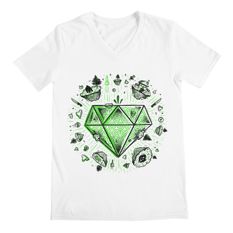 We Are Diamonds! Men's Regular V-Neck by effect14's Artist Shop