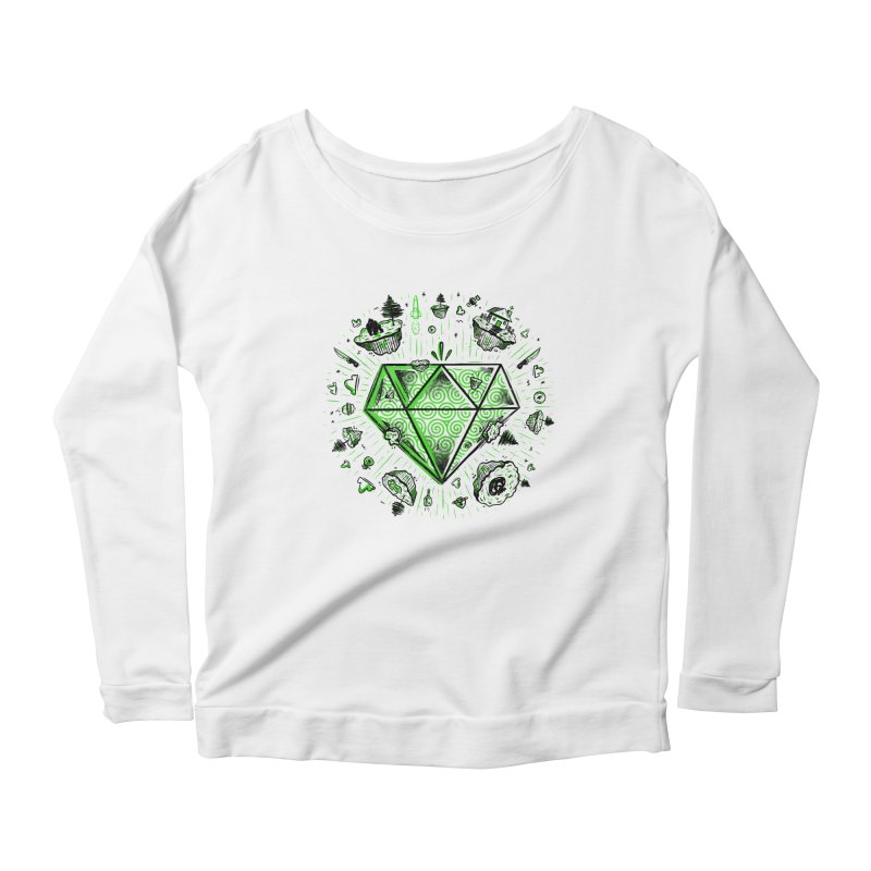We Are Diamonds! Women's Longsleeve Scoopneck  by effect14's Artist Shop