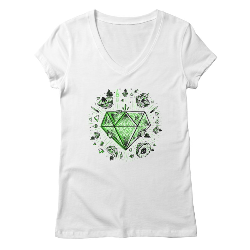 We Are Diamonds! Women's V-Neck by effect14's Artist Shop