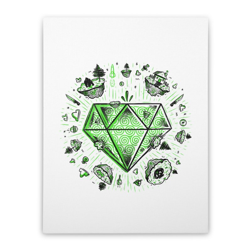 We Are Diamonds! Home Stretched Canvas by effect14's Artist Shop