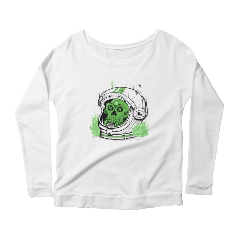 Alive Again! Women's Longsleeve Scoopneck  by effect14's Artist Shop