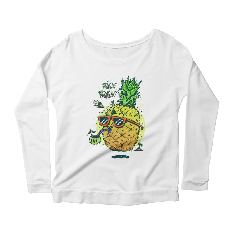 Juicy Juicy Women's Longsleeve Scoopneck  by effect14's Artist Shop