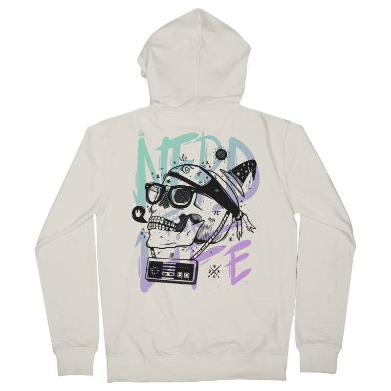 Nerd For Life Men's French Terry Zip-Up Hoody by effect14's Artist Shop