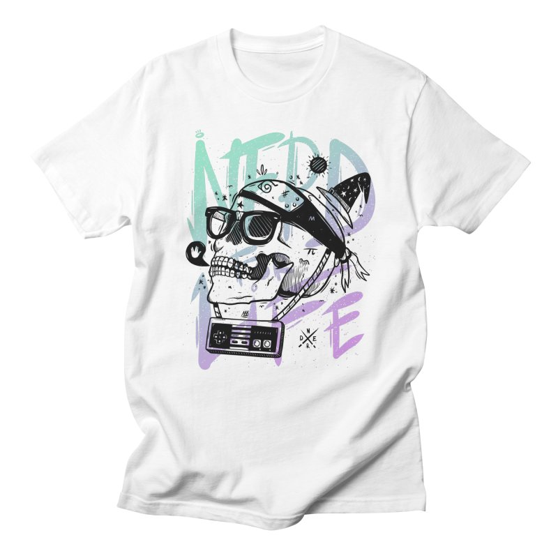 Nerd For Life in Men's T-Shirt White by effect14's Artist Shop