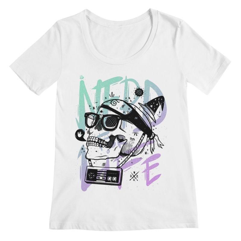 Nerd For Life Women's Regular Scoop Neck by effect14's Artist Shop