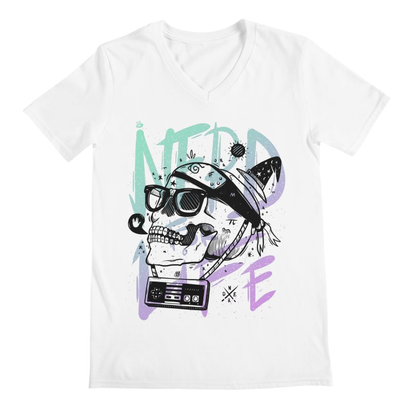 Nerd For Life Men's V-Neck by effect14's Artist Shop
