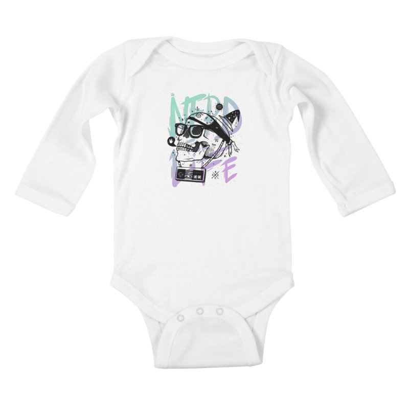 Nerd For Life Kids Baby Longsleeve Bodysuit by effect14's Artist Shop