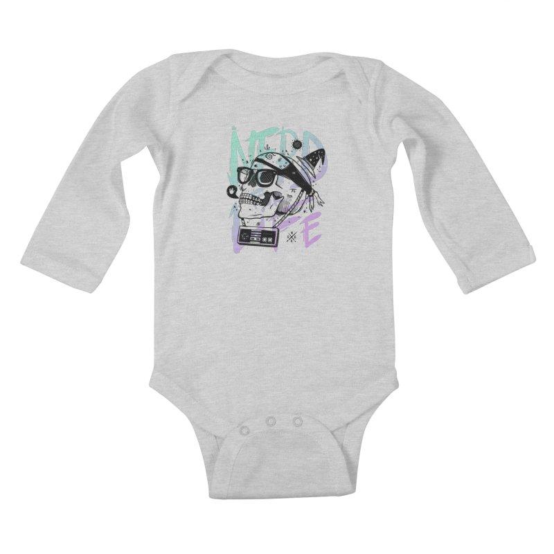 Nerd For Life Kids Baby Longsleeve Bodysuit by effect14's Artist Shop