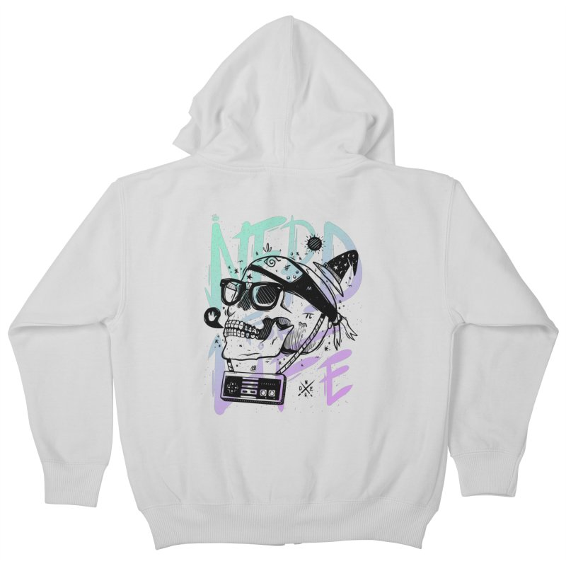Nerd For Life Kids Zip-Up Hoody by effect14's Artist Shop